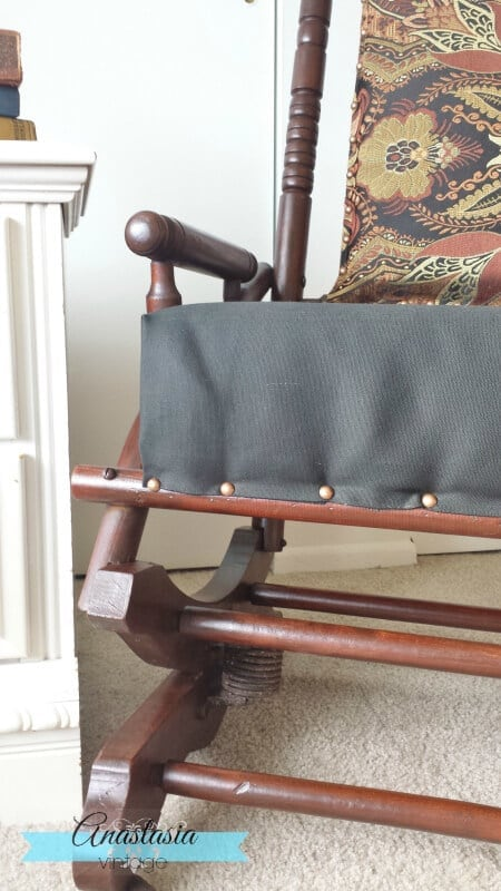 antique platform rocking chair frame General Finishes gel stain
