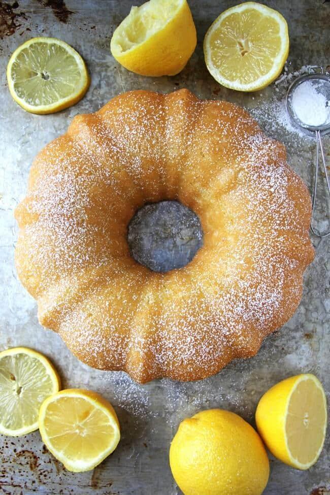 Lemon Bundt Cake - A Pretty Life