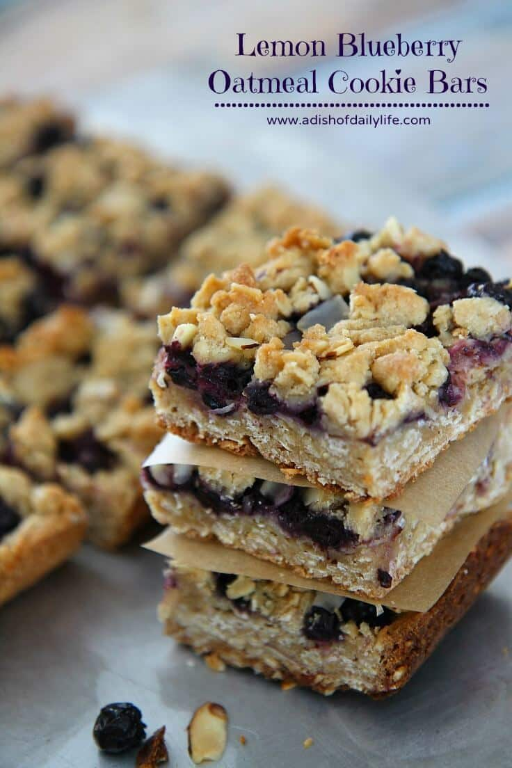 Lemon Blueberry Bars - A Dish of Daily Life featured on Ideas for the Home by Kenarry®
