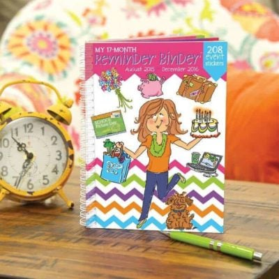 This adorable and useful Reminder Binder from Denise Albright Studio will help you stay on top of things this school year.