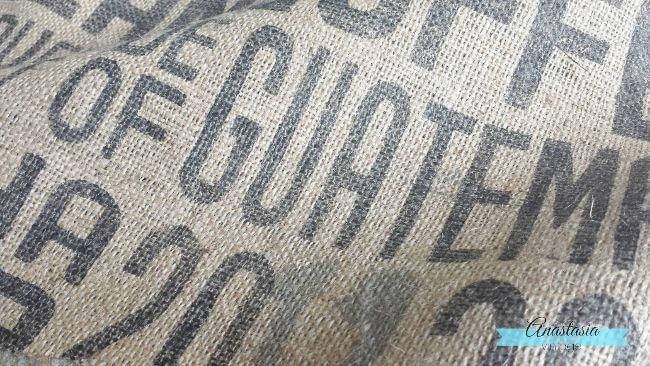 burlap coffee sack graphic