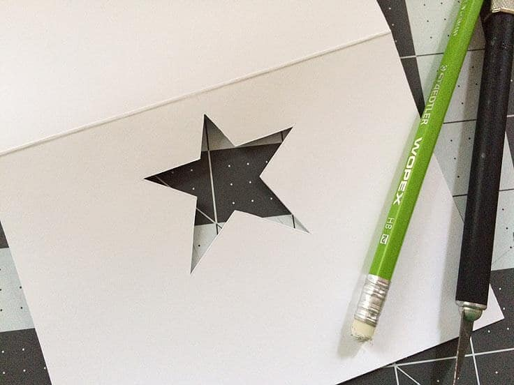 Die-cut star stencil
