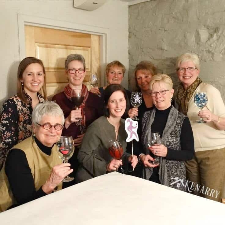 Women's Service Day - Handpainted Wine Glasses