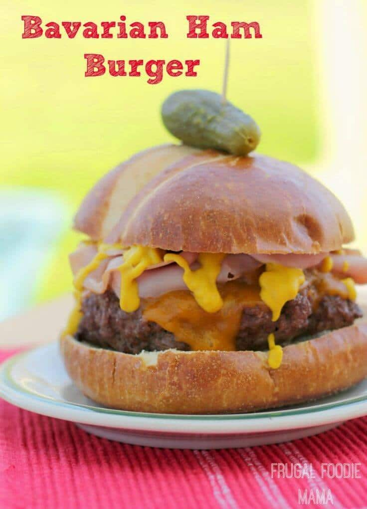 Bavarian Ham Burger - The Frugal Foodie Mama featured at Ideas for the Home by Kenarry®