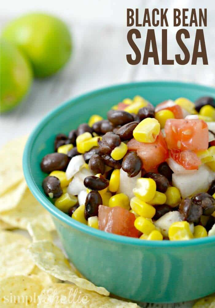 Quick and Simple Black Bean Salsa – Simply Shellie featured on Kenarry.com