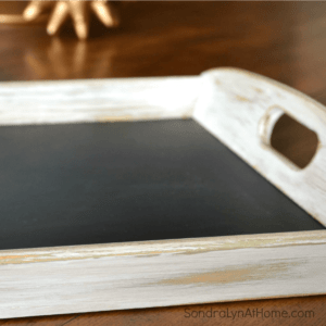 Chalkboard Tray Detail- SondraLynatHome.com