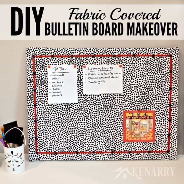 DIY Bulletin Board Makeover: How To Cover In Fabric