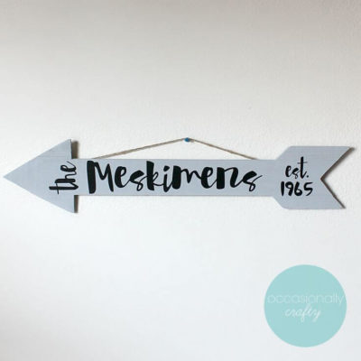 Family Name Arrow Decor 1