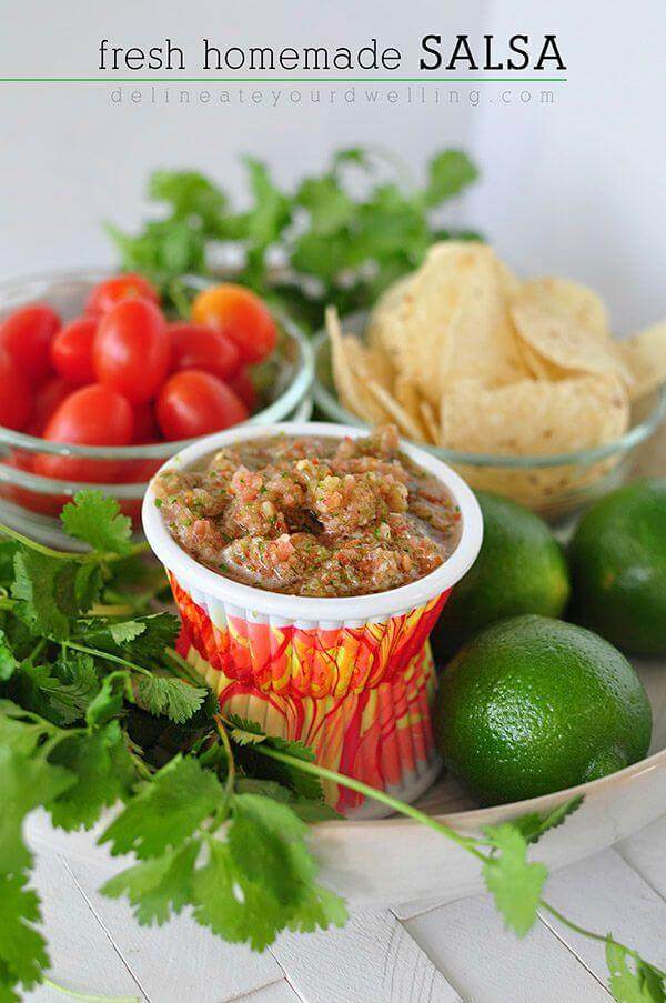 Fresh Homemade Salsa – Delineate Your Dwelling featured on Kenarry.com