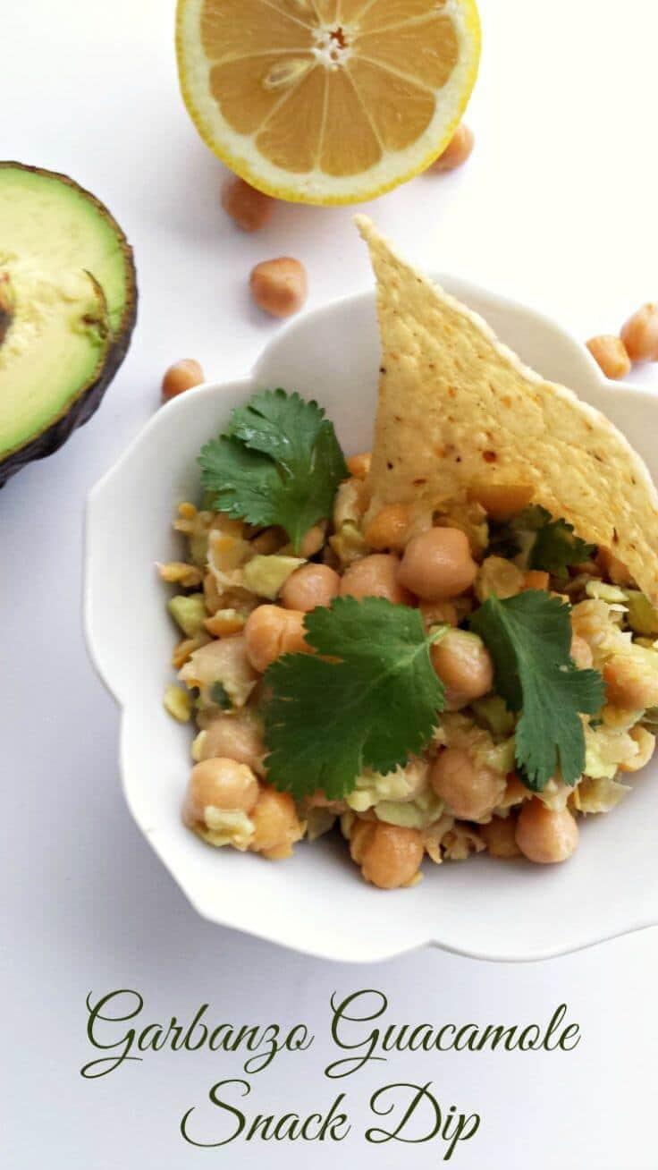 Garbanzo Guacamole Snack Dip Recipe – Happy Mothering featured on Kenarry.com