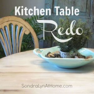 Kitchen Table Redo thumbnail - Sondra Lyn at Home.com