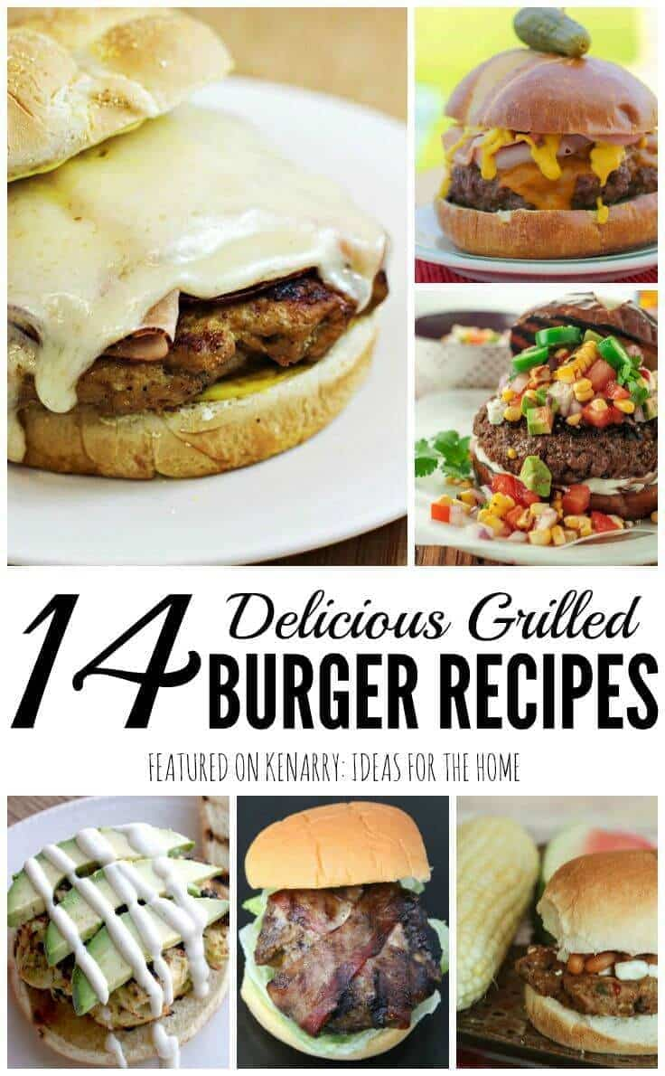 Wow! So many fantastic burger recipes including ideas for beef, chicken and veggie burgers. These would be great for grilling at a summer party or backyard barbecue dinner.