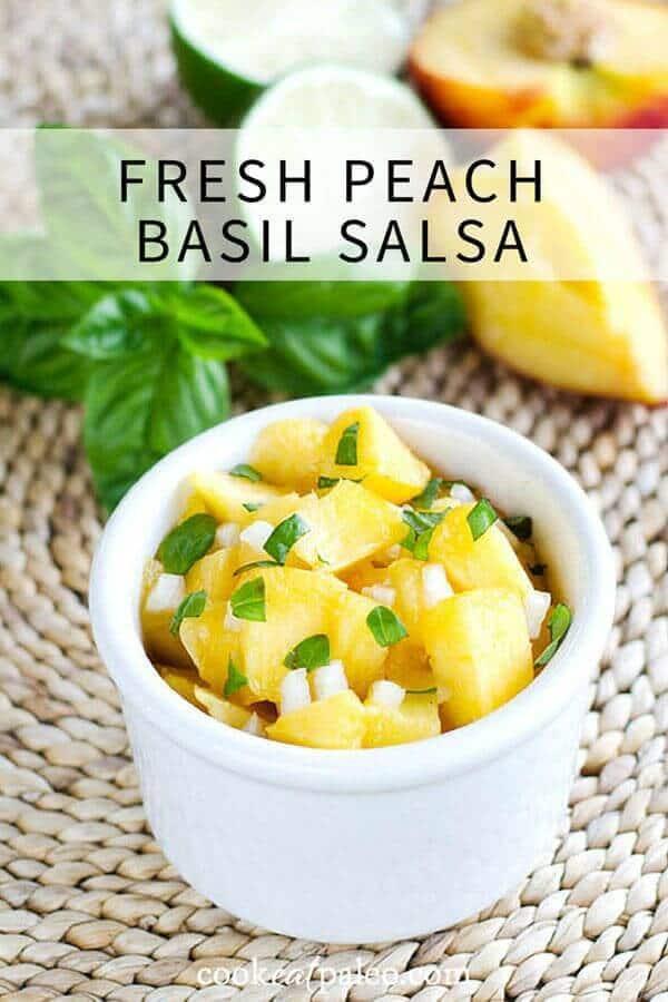 Fresh Peach Basil Salsa – Cook Eat Paleo featured on Kenarry.com