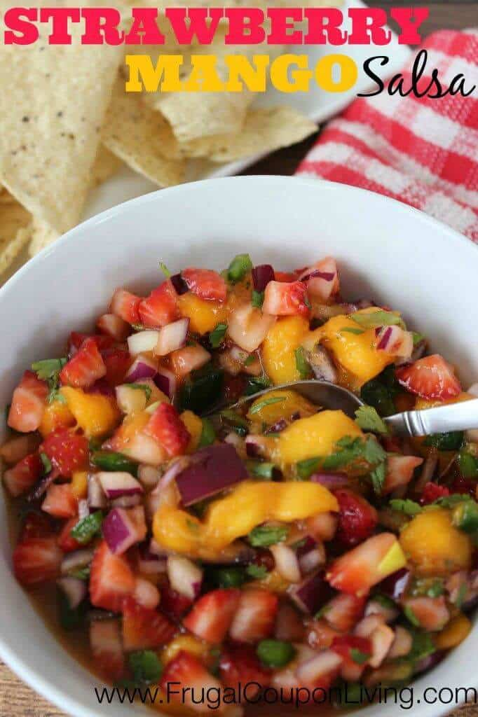 Summer Strawberry Mango Salsa Recipe – Frugal Coupon Living featured on Kenarry.com