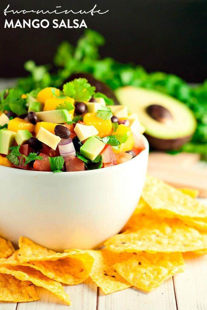 Two-Minute Mango Salsa – A Simple Pantry featured on Kenarry.com