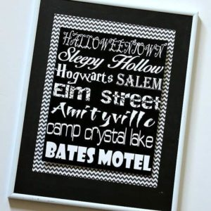 Creepy Places Printable Halloween