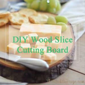 DIY Wood Slice Cutting Board