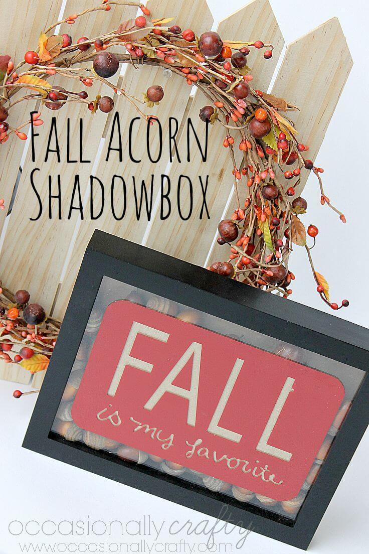 Fall Acorn Shadowbox 2