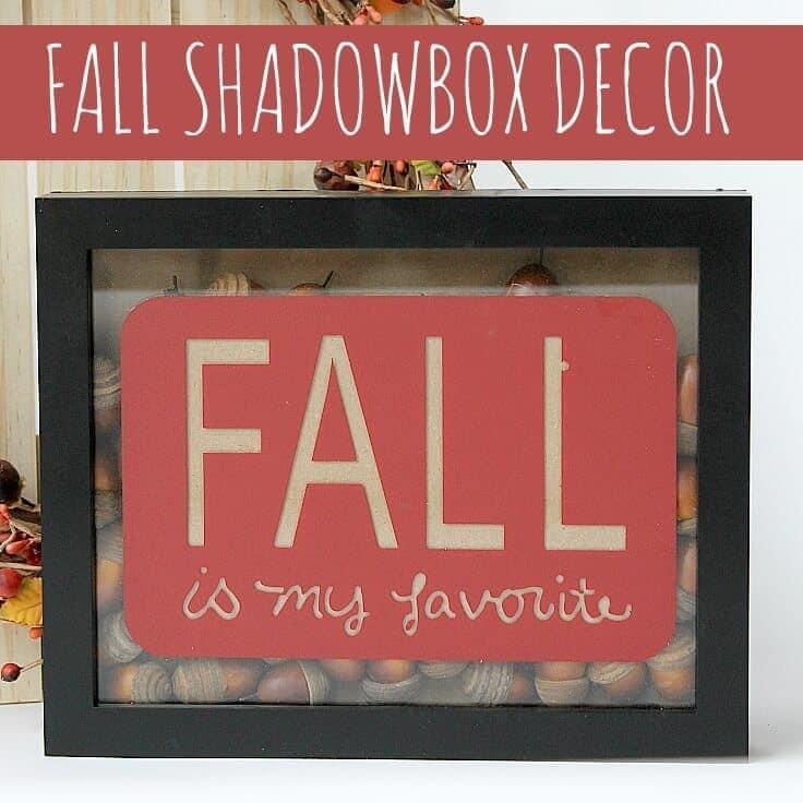 Fall Acorn Shadowbox Decor