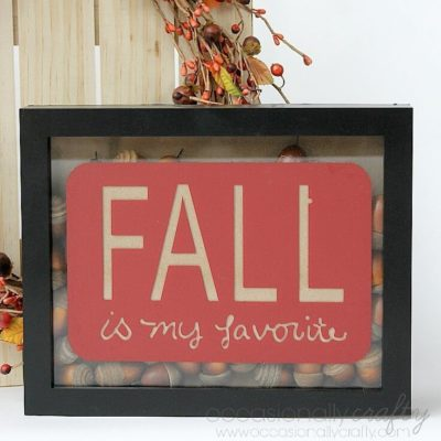 Fall Shadowbox Decor