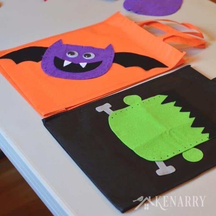 Diy Halloween Trick Or Treat Bags.Halloween Trick Or Treat Bags An Easy Diy Idea