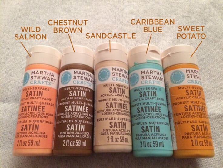 Martha Stewart craft paint colors for fall