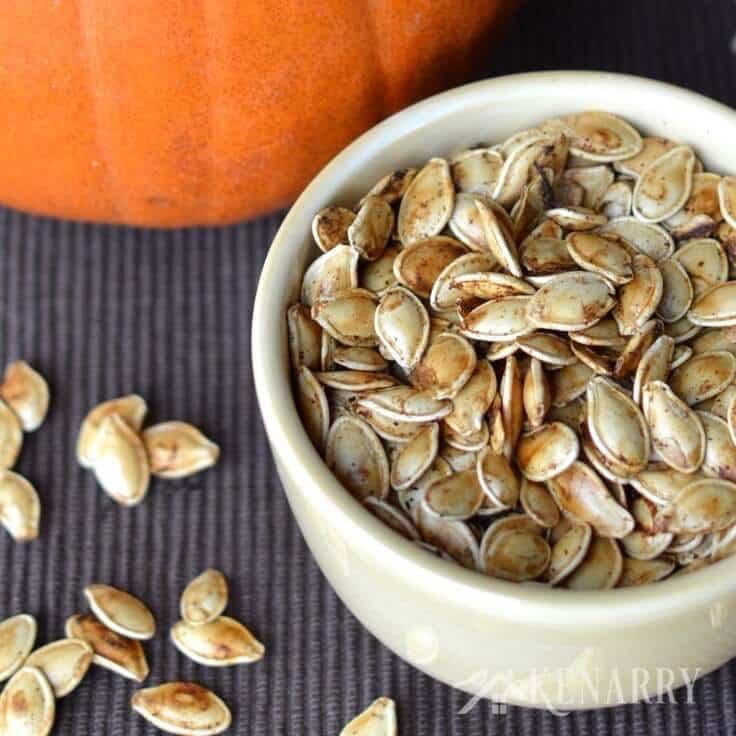 what temperature do i cook pumpkin seeds