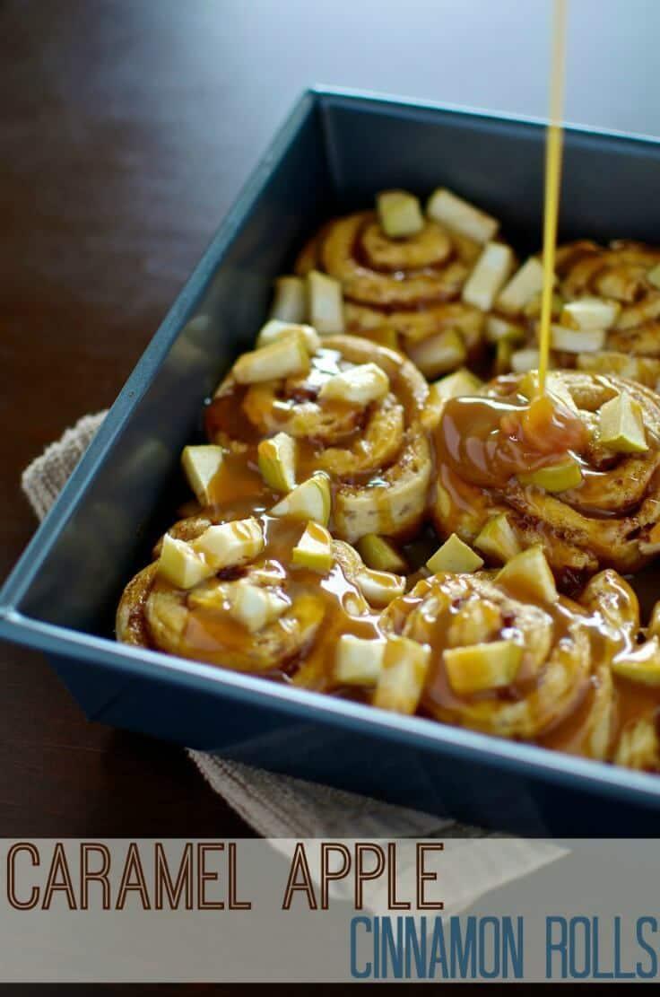 Caramel Apple Cinnamon Rolls – Moments with Mandi - Caramel Apple Dessert Ideas: 20 Delicious Recipes featured on Kenarry.com