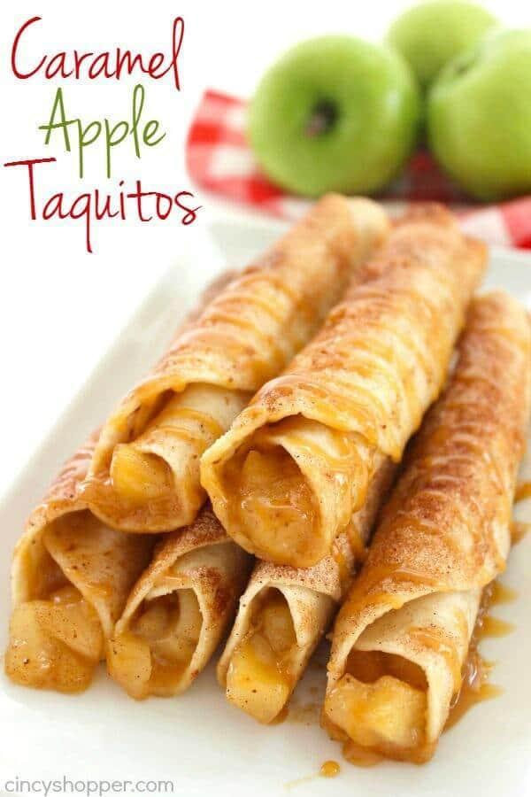 Caramel Apple Taquitos – Cincy Shopper - Caramel Apple Dessert Ideas: 20 Delicious Recipes featured on Kenarry.com
