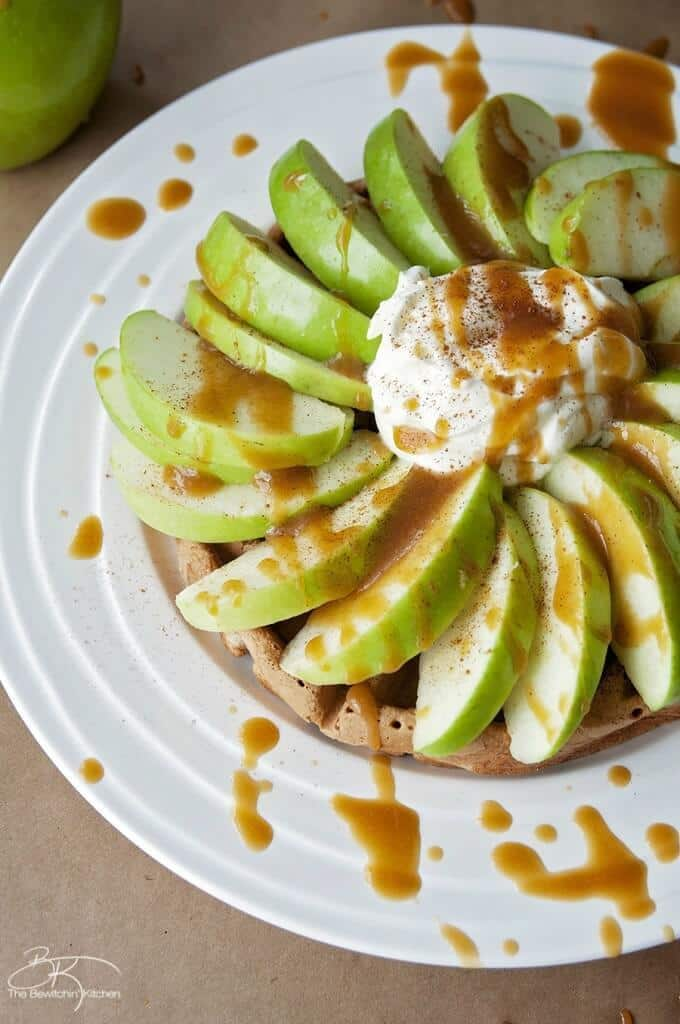 Caramel Apple Waffles – The Bewitchin' Kitchen - Caramel Apple Dessert Ideas: 20 Delicious Recipes featured on Kenarry.com