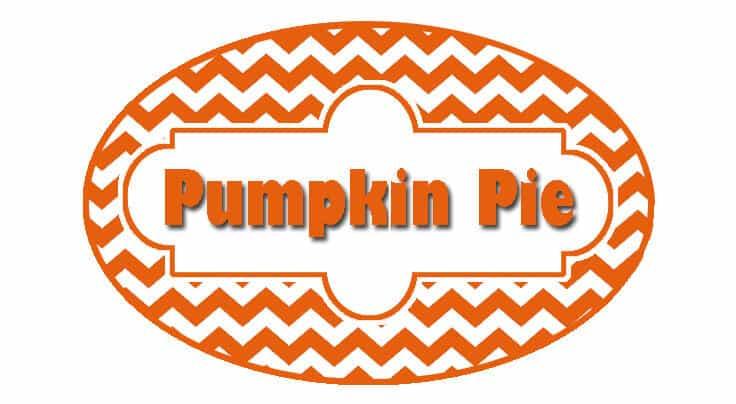 DIY Pumpkin Pie Jar Candle - Label