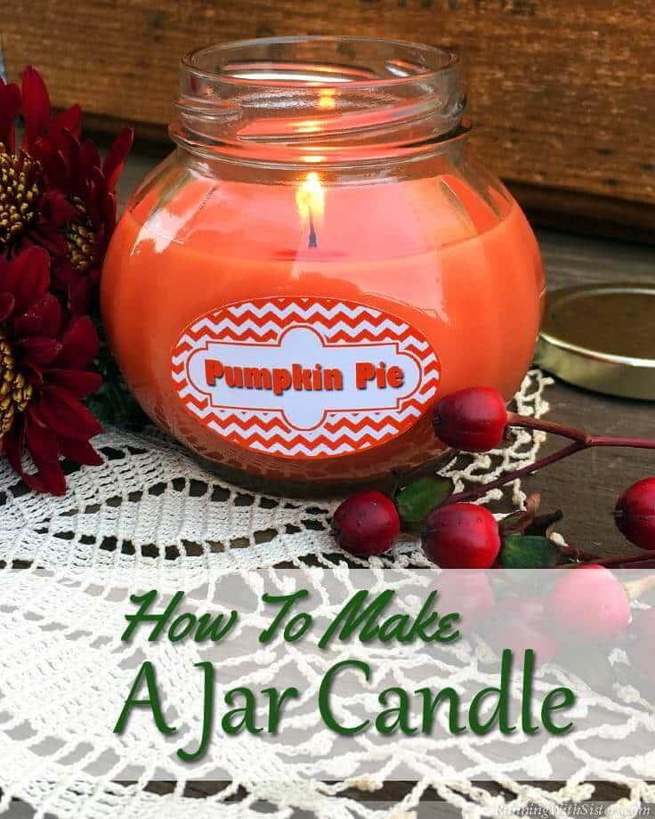 DIY Pumpkin Pie Jar Candle