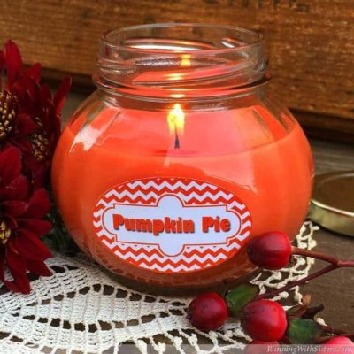 DIY Pumpkin Pie Jar Candle