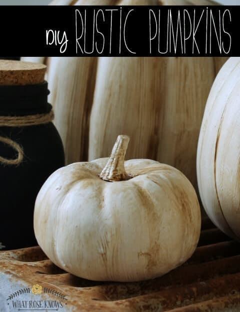 DIY Rustic Pumpkins – What Rose Knows featured at Think and Make Thursday on Kenarry.com