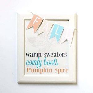 Fall Printable with Mini Banner
