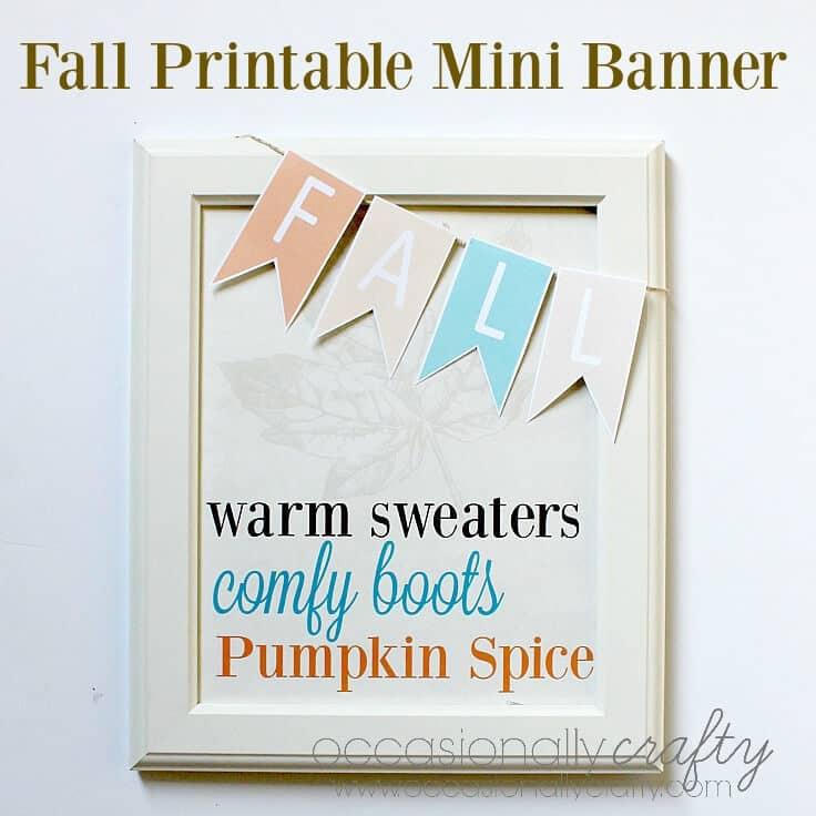 Fall Printable Mini Banner