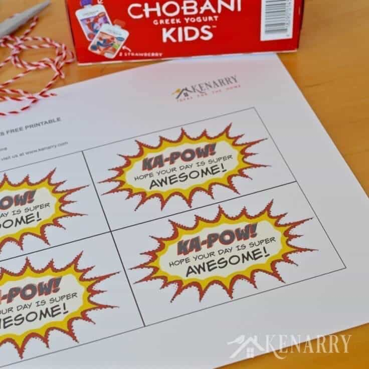 What a fun idea for school lunches! Attach one of these free printable superhero lunch box notes to a healthy snack or treat.