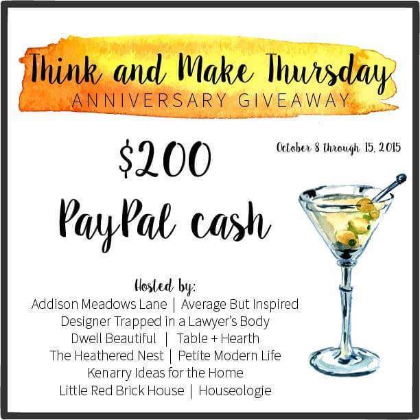 Think and Make Thursday - One Year Anniversary Giveaway