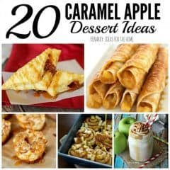 These caramel apple dessert ideas are perfect for fall! So many great recipes for sweet treats to enjoy at a dinner party or potluck.