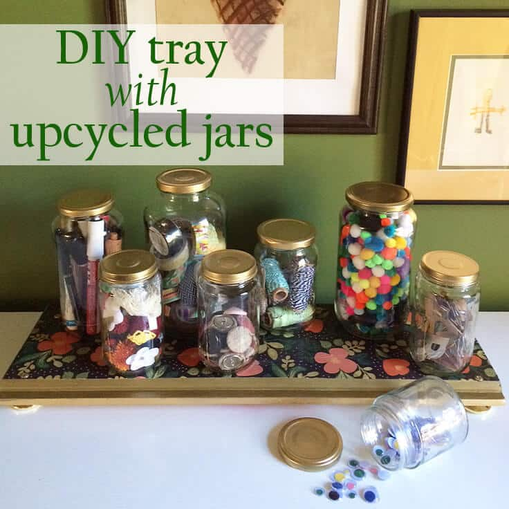 DIY tray with gold touches and paper detail from Greco Design