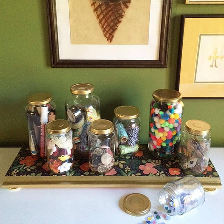 DIY Tray with Upcycled Jars