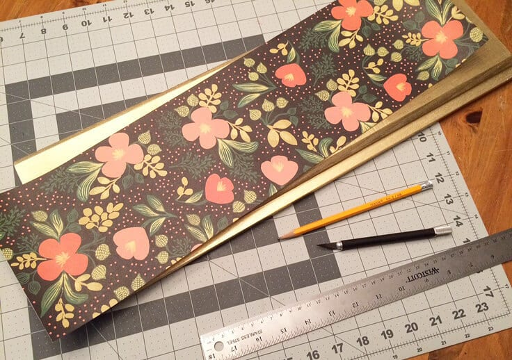 specialty paper to decorate wood tray