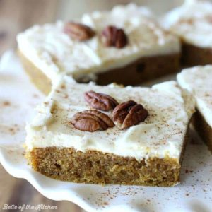 This Pumpkin Sheet Cake is full of sweet, fall flavors and finished off with a cream cheese icing. It's easy to make and perfect for a crowd!
