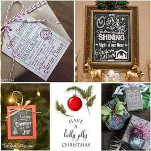 Collection of Christmas Printables by The Birch Cottage