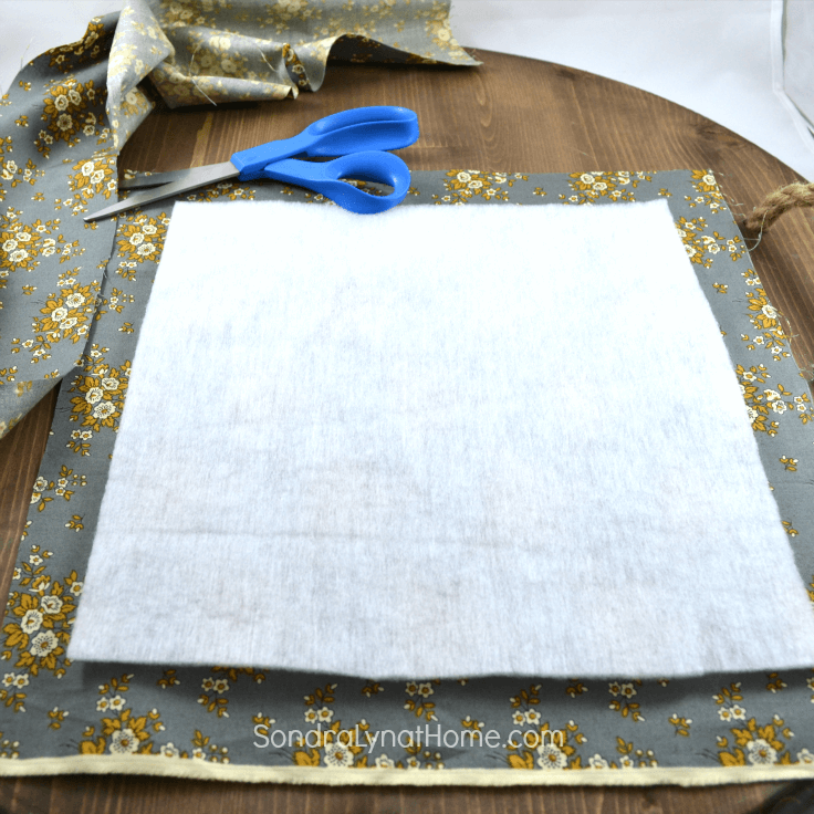 DIY Fabric Photo Frame - cutting fabric-Sondra Lyn at Home.com