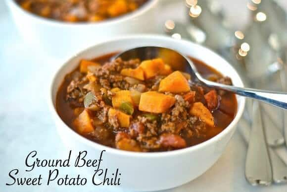 Ground Beef Sweet Potato Chili - Making of a Mom featured on Kenarry.com