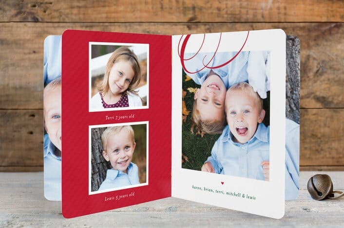 merry swashes holiday booklette cards from Minted.com - Holiday Card Checklist and Tips on Kenarry.com