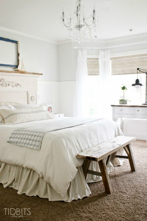 Master Bedroom Makeover Reveal – Tidbits featured at Think and Make Thursday on Kenarry.com