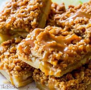 Salted Caramel Apple Pie Bars by The Birch Cottage