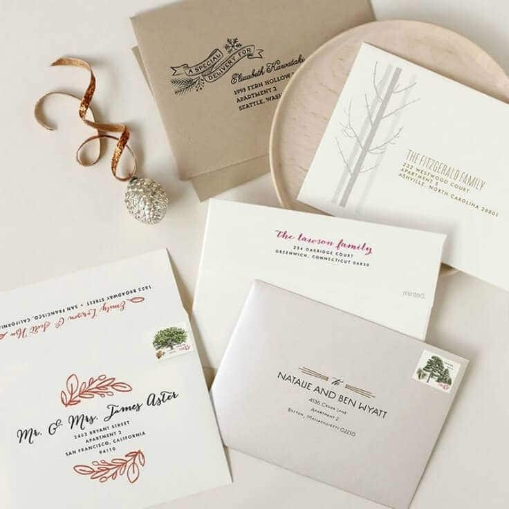 The Minted Envelope - Minted.com - Holiday Card Checklist on Kenarry.com